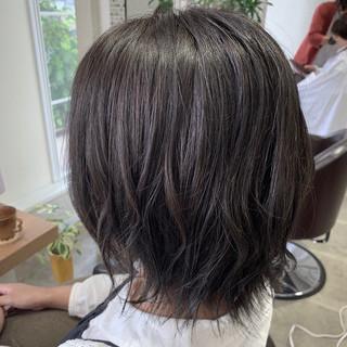イルミナカラー 艶髪 エレガント ボブ ヘアスタイルや髪型の写真・画像