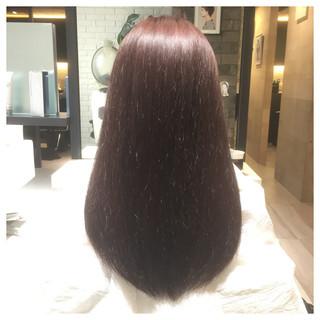 ガーリー ピンク ロング 春 ヘアスタイルや髪型の写真・画像