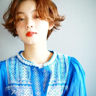 ハンサムショート アンニュイ ナチュラル 地毛ハイライト ヘアスタイルや髪型の写真・画像