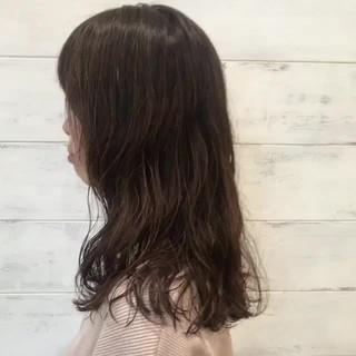透明感 デート ナチュラル ミディアム ヘアスタイルや髪型の写真・画像