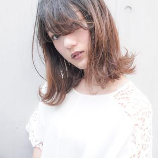 ハイライト 透明感 フェミニン ボブ ヘアスタイルや髪型の写真・画像