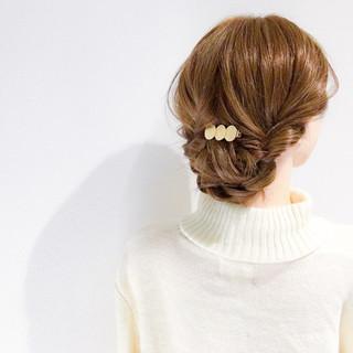 結婚式 デート 簡単ヘアアレンジ セミロング ヘアスタイルや髪型の写真・画像