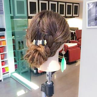 アウトドア ロング エレガント ヘアアレンジ ヘアスタイルや髪型の写真・画像