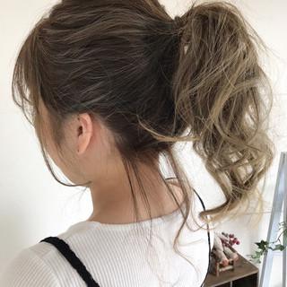 夏 ナチュラル ヘアアレンジ ポニーテール ヘアスタイルや髪型の写真・画像