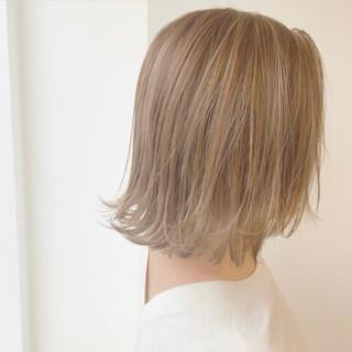 大人可愛い 切りっぱなしボブ モテボブ ナチュラル ヘアスタイルや髪型の写真・画像