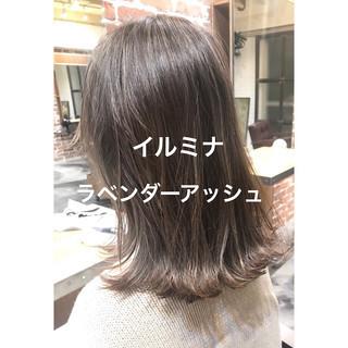 アンニュイほつれヘア セミロング デート パーマ ヘアスタイルや髪型の写真・画像