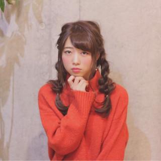 四つ編み ナチュラル ヘアアレンジ ロング ヘアスタイルや髪型の写真・画像