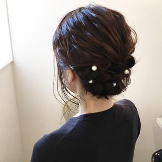 ミディアム 花火大会 デート 夏 ヘアスタイルや髪型の写真・画像