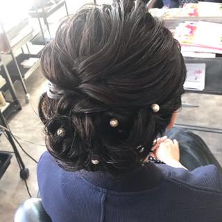 ヘアセット エレガント 和装ヘア ミディアム ヘアスタイルや髪型の写真・画像