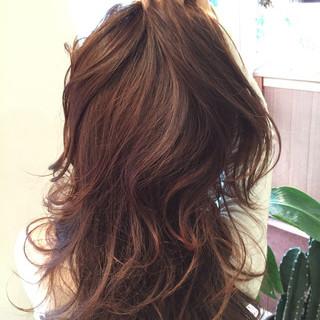 ハイライト コンサバ 外国人風 ロング ヘアスタイルや髪型の写真・画像