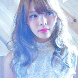渋谷系 ベージュ ゆるふわ ガーリー ヘアスタイルや髪型の写真・画像