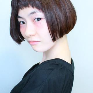 デート ボブ 似合わせカット ナチュラル ヘアスタイルや髪型の写真・画像