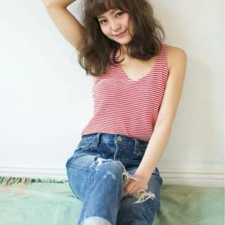 外国人風カラー 大人かわいい ストリート ナチュラル ヘアスタイルや髪型の写真・画像
