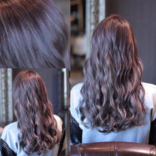 ハイライト セミロング モード 外国人風 ヘアスタイルや髪型の写真・画像 ヘアスタイルや髪型の写真・画像