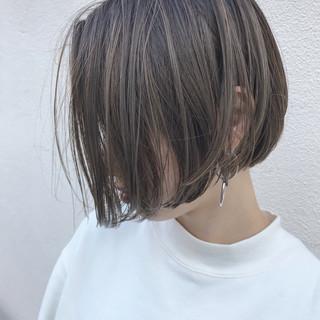 こなれ感 切りっぱなし ハイライト ナチュラル ヘアスタイルや髪型の写真・画像