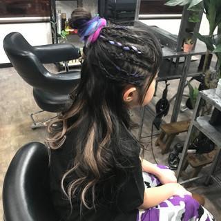 ハイライト ロング エクステ キッズ ヘアスタイルや髪型の写真・画像 ヘアスタイルや髪型の写真・画像