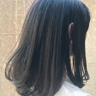 ボブ グレージュ ハイライト 外国人風 ヘアスタイルや髪型の写真・画像