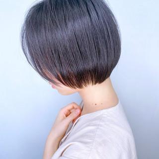 黒髪 ナチュラル ミニボブ ボブ ヘアスタイルや髪型の写真・画像