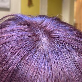 インナーカラー ベリーピンク ショートボブ ナチュラル ヘアスタイルや髪型の写真・画像