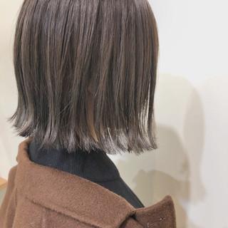 ボブ ガーリー デート ゆるふわ ヘアスタイルや髪型の写真・画像