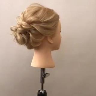 ヘアアレンジ 簡単ヘアアレンジ 結婚式 エレガント ヘアスタイルや髪型の写真・画像