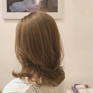 デート ニュアンスウルフ セミロング ナチュラル ヘアスタイルや髪型の写真・画像