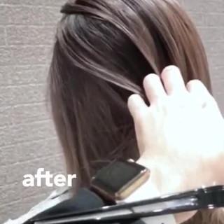 外国人風カラー バレイヤージュ デート ミディアム ヘアスタイルや髪型の写真・画像