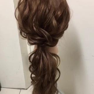 ロング 結婚式 ナチュラル ヘアアレンジ ヘアスタイルや髪型の写真・画像