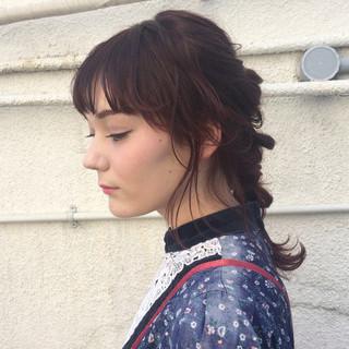 ガーリー ショート ヘアアレンジ 編み込み ヘアスタイルや髪型の写真・画像 ヘアスタイルや髪型の写真・画像