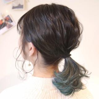 ヘアアレンジ 簡単ヘアアレンジ ミディアム オフィス ヘアスタイルや髪型の写真・画像 ヘアスタイルや髪型の写真・画像