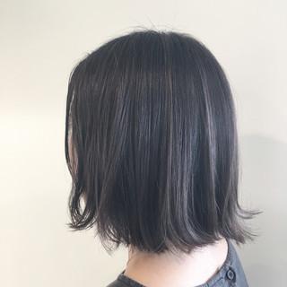 ストリート ボブ グラデーションカラー アッシュ ヘアスタイルや髪型の写真・画像