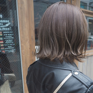 ボブ インナーカラー 透明感 ストリート ヘアスタイルや髪型の写真・画像