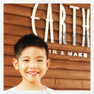 子供 ショート 坊主 ボーイッシュ ヘアスタイルや髪型の写真・画像
