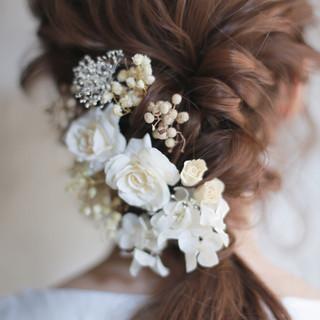セミロング 結婚式 成人式 外国人風 ヘアスタイルや髪型の写真・画像 ヘアスタイルや髪型の写真・画像