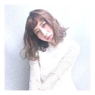ロブ ゆるウェーブ ボブ 波ウェーブ ヘアスタイルや髪型の写真・画像