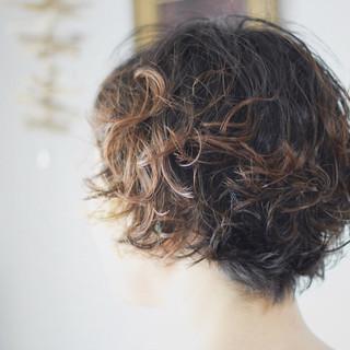 パーマ ボブ ボブ ショートマッシュ ヘアスタイルや髪型の写真・画像 ヘアスタイルや髪型の写真・画像