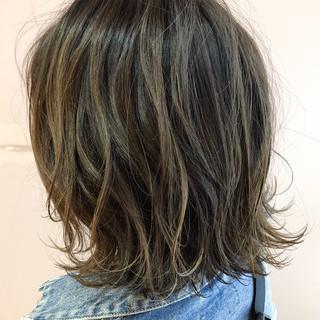 ナチュラル ヘアアレンジ 外ハネボブ ボブ ヘアスタイルや髪型の写真・画像
