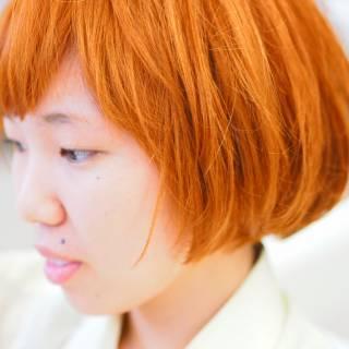 外国人風 イエロー オレンジ ストリート ヘアスタイルや髪型の写真・画像