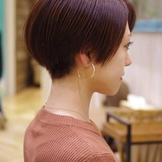 ハンサムショート ショートカット コンサバ ショートボブ ヘアスタイルや髪型の写真・画像