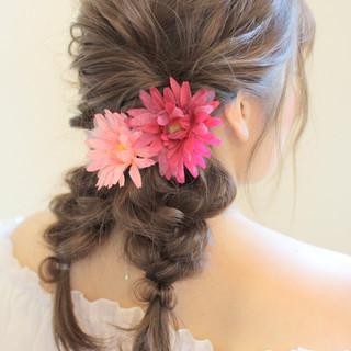 ヘアアレンジ フェミニン ロング モテ髪 ヘアスタイルや髪型の写真・画像