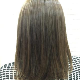 メッシュ イルミナカラー ハイトーン ボブ ヘアスタイルや髪型の写真・画像