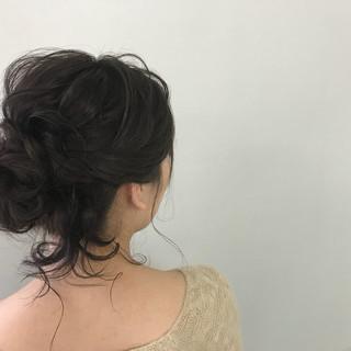 結婚式 セミロング ナチュラル 簡単ヘアアレンジ ヘアスタイルや髪型の写真・画像
