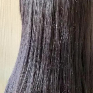 アッシュグレージュ ミディアム アッシュベージュ ラベンダーピンク ヘアスタイルや髪型の写真・画像