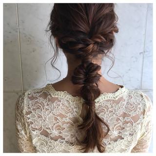 アンニュイ 女子会 セミロング ヘアアレンジ ヘアスタイルや髪型の写真・画像