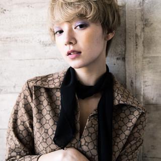 外国人風カラー ショート 外国人風フェミニン ナチュラル ヘアスタイルや髪型の写真・画像