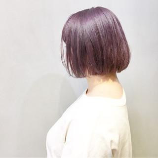 ラベンダーアッシュ ラベンダーピンク ラベンダー パープルアッシュ ヘアスタイルや髪型の写真・画像