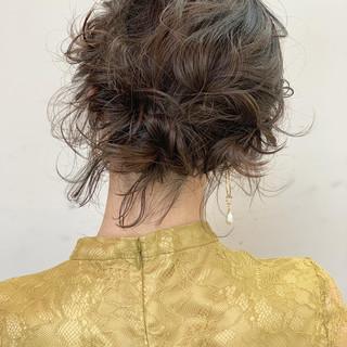 ナチュラル 結婚式 ボブ ヘアアレンジ ヘアスタイルや髪型の写真・画像