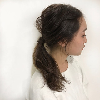 ショート ヘアアレンジ 簡単ヘアアレンジ ミディアム ヘアスタイルや髪型の写真・画像 ヘアスタイルや髪型の写真・画像