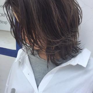外国人風カラー ロブ ナチュラル 外国人風 ヘアスタイルや髪型の写真・画像