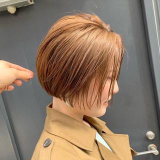 ハイトーンカラー ハイトーン ショートヘア ミニボブ ヘアスタイルや髪型の写真・画像